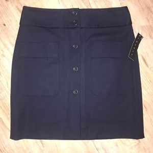 Theory Mini Pencil Skirt- Navy Blue